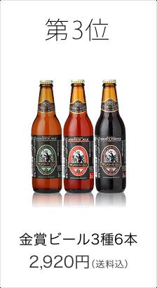金賞ビール3種6本セット