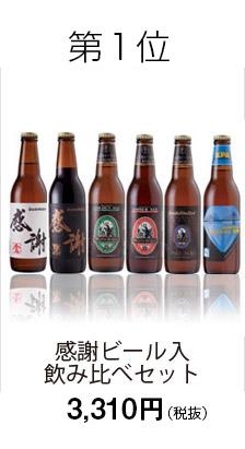 第1位 感謝ビール入飲み比べセット