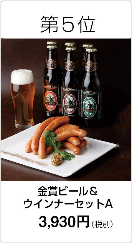 第5位 金賞ビール&ウインナーセットA