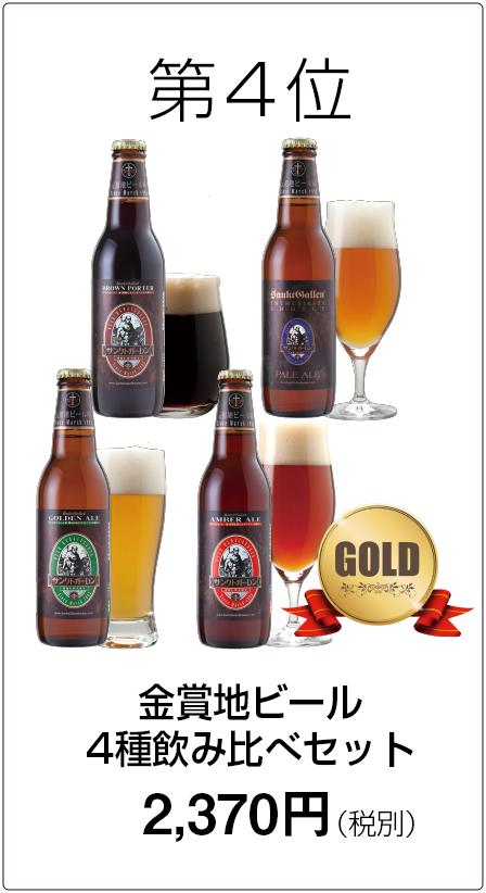 第4位 金賞地ビール4種飲み比べセット