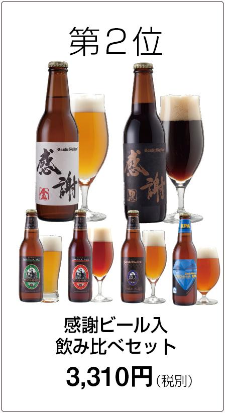 第2位 感謝ビール入飲み比べセット