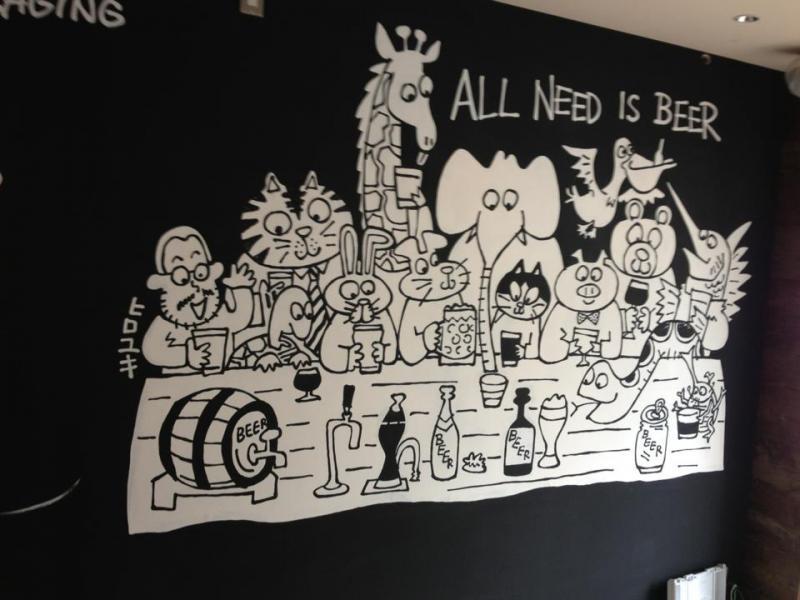 藤原ヒロユキさんによる壁画