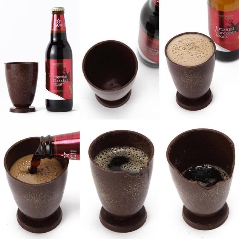 チョコビールを注いで、飲んで、食べられる!