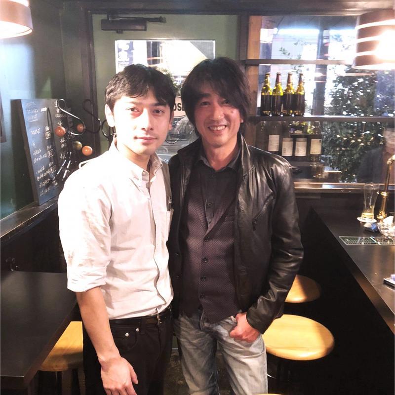 稗田さん(左)と、サンクトガーレン社長の岩本(右)