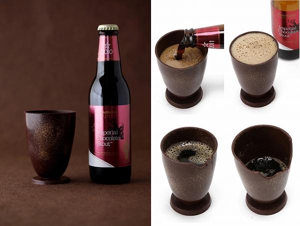 チョコビールを注いで、飲んで、食べられる