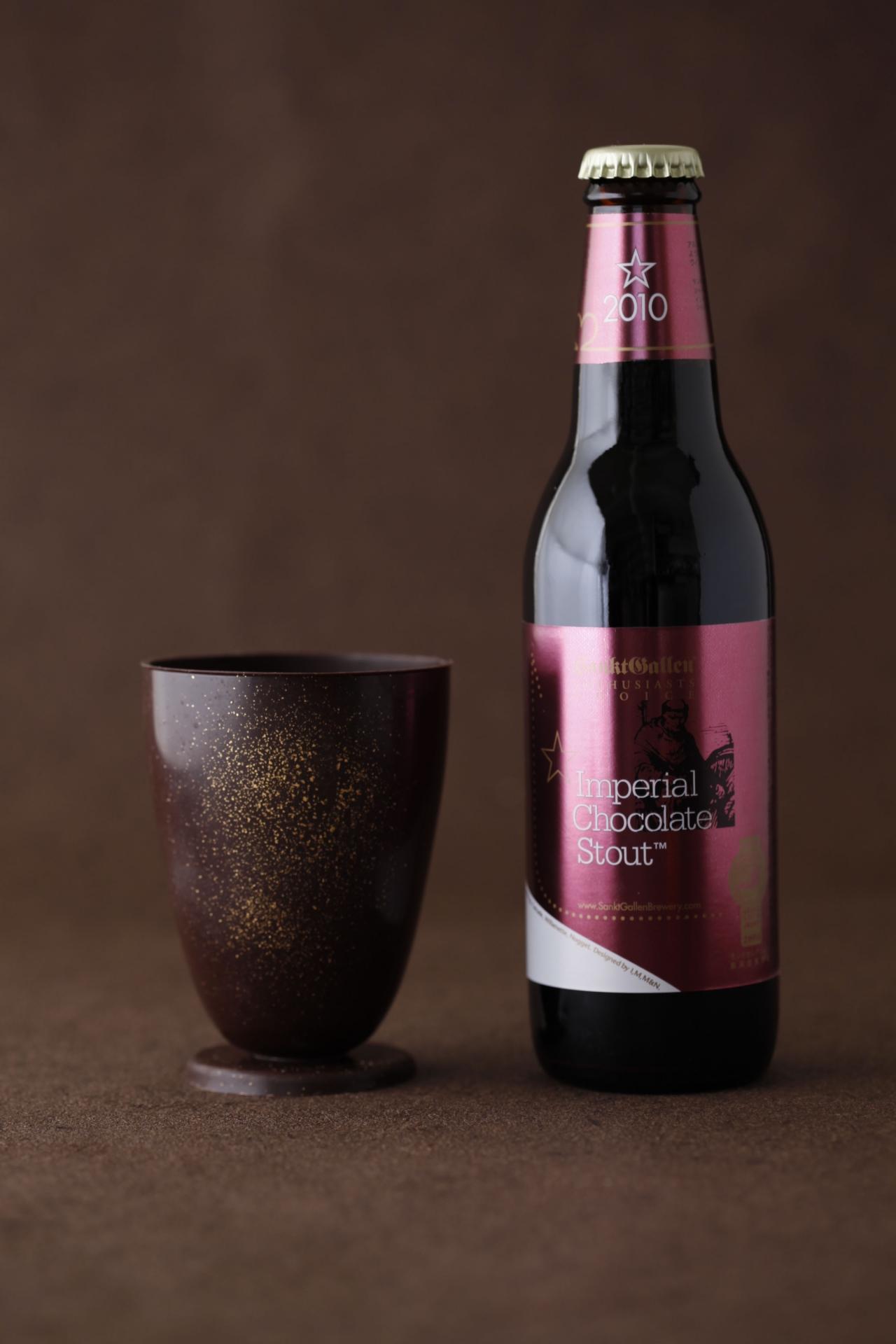 チョコレートグラスとチョコレートビール