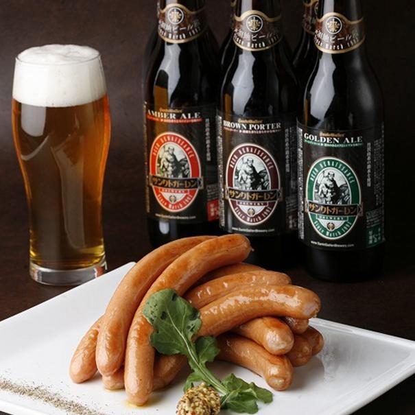 金賞ビール&ウインナー