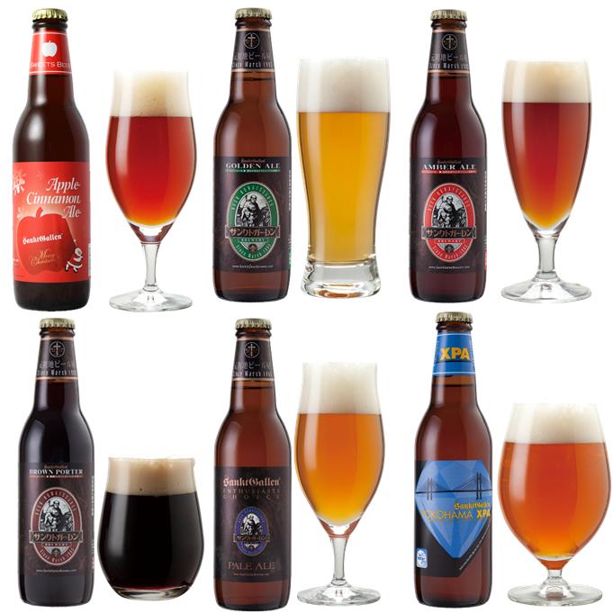 クラフトビール6種6本飲み比べセット<クリスマスラベル ビール入>