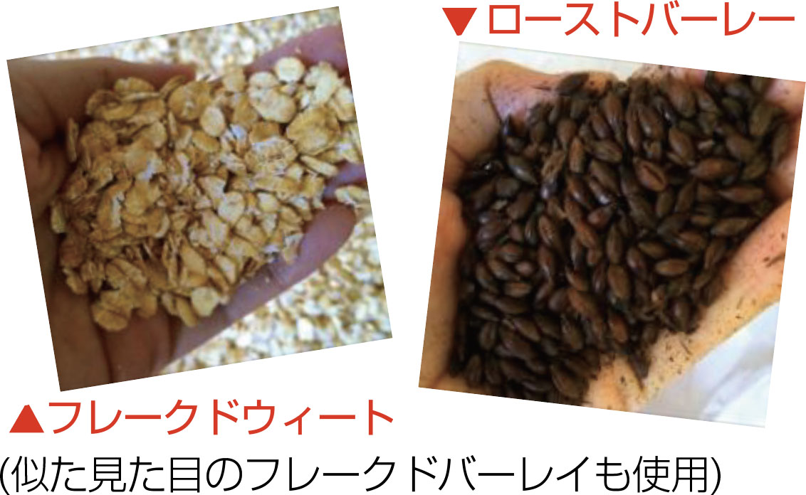 麦芽化していない麦を3種類使い、濃密な飲み口
