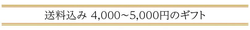 送料込み 4,000〜5,000円の「父の日ギフト」