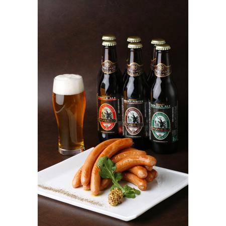 お歳暮ギフト「金賞ビール&日本一ウインナーA」