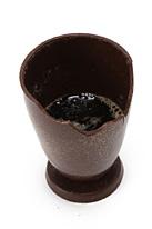 バリバリ食べられたチョコレートグラス