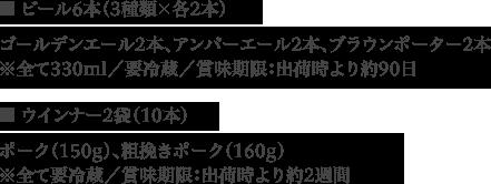 日本一ウインナー&金賞ビールセットB セット内容