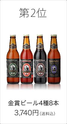 第2位 金賞ビール4種8本セット